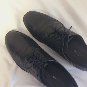 Vagabond Black Leather Oxford Shoes